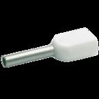 Двойной втулочный изолированный наконечник Klauke 8698, 2 × 0,5 мм², длина втулки 8 мм, белый