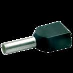 Двойной втулочный изолированный наконечник Klauke 8728, 2 × 1,5 мм², длина втулки 8 мм, черный