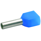 Двойной втулочный изолированный наконечник Klauke 87313, 2 × 2,5 мм², длина втулки 12 мм, голубой