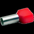 ДвойнойвтулочныйизолированныйнаконечникKlauke 87614,2×10мм²,длинавтулки14мм,красный