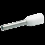 Втулочный изолированный наконечник Klauke GR170W, 0,75 мм², для втулки 8 мм, цветной ряд 1, белый, 500 шт.