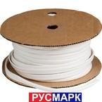Трубка кембрик ПВХ «Русмарк» для печати, белая, 3,5 мм, 200 метров/упак (аналог IB3520)