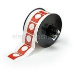 Маркировка под кнопку B30EP-167-593-RD, красный материал B-593 EPREP, 30,48 * 38,10 мм, диаметр отверстия 22,5 мм, выемка, 235 шт. (BBP31/33/35/37)