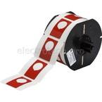 Маркировка под кнопку B30EP-168-593-RD, красный материал B-593 EPREP, 30,48 * 48,26 мм, диаметр отверстия 22,5 мм (BBP31/33/35/37)