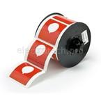 Маркировка под кнопку B30EP-170-593-RD, красный материал B-593 EPREP, 60,96 * 60,96 мм, диаметр отверстия 30,5 мм, выемка, 145 шт (BBP31/33/35/37)
