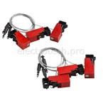 Блокиратор EZ Panel Loc Snap-On для выключателей, длина троса 0,61 м, может использоваться совместно с дополнительным самоклеящимся держателем, 6 шт. в упаковке