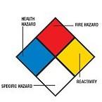 Знаки магнитные маркировки опасных грузо Brady преднапечатанные в по nfpa,пиктограмма-,магнитный материал, 100x100 мм, b-0589, pic 667, 1 шт, ромб