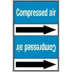 Стрелка для маркировки трубопровода Brady, белый на синем, «high pressure air», 100x33000 мм, b-7529, 550 шт, 8 мм