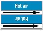 Стрелка для маркировки трубопровода Brady, белый на синем, «low pressure air», 100x33000 мм, b-7529, 220 шт, 13 мм