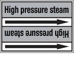 """Стрелка для маркировки трубопровода, легенда """"Industrial Steam"""", материал B-7529, черный на сером, 100 мм × 33 м, высота букв 13 мм, 220 шт."""