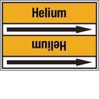 Стрелка для маркировки трубопровода Brady, черный на желтом, «hydrogen cloride c», 127x33000 мм, b-7529, 220 шт, 13 мм