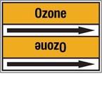Стрелка для маркировки трубопровода Brady, черный на желтом, «recycled gas», 100x33000 мм, b-7529, 220 шт, 13 мм