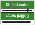 Стрелка для маркировки трубопровода Brady, белый на зеленом, «chilled water supply», 100x33000 мм, b-7529, 220 шт, 13 мм