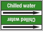 Стрелка для маркировки трубопровода Brady, белый на зеленом, «city water», 100x33000 мм, b-7529, 220 шт, 13 мм