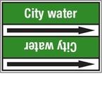 Стрелка для маркировки трубопровода Brady, белый на зеленом, «cold water return», 100x33000 мм, b-7529, 220 шт, 13 мм