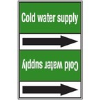 Стрелка для маркировки трубопровода Brady, белый на зеленом, «condensate water return», 100x33000 мм, b-7529, 220 шт, 13 мм