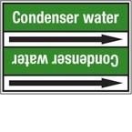 Стрелка для маркировки трубопровода Brady, белый на зеленом, «condensate water supply», 100x33000 мм, b-7529, 220 шт, 13 мм