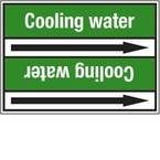 Стрелка для маркировки трубопровода Brady, белый на зеленом, «decarbonatized water», 100x33000 мм, b-7529, 220 шт, 13 мм