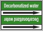 "Стрелка для маркировки трубопровода, легенда ""Demineralised Water"", материал B-7529, белый на зеленом, 100 мм × 33 м, высота букв 13 мм, 220 шт."