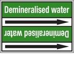 "Стрелка для маркировки трубопровода, легенда ""Domestic Cold Water"", материал B-7529, белый на зеленом, 100 мм × 33 м, высота букв 13 мм, 220 шт."
