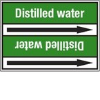 Стрелка для маркировки трубопровода Brady, белый на зеленом, «domestic hot water flow», 100x33000 мм, b-7529, 220 шт, 13 мм