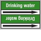 Стрелка для маркировки трубопровода Brady, белый на зеленом, «hard water», 100x33000 мм, b-7529, 220 шт, 13 мм