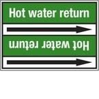 """Стрелка для маркировки трубопровода, легенда """"Industrial Water"""", материал B-7529, белый на зеленом, 100 мм × 33 м, высота букв 13 мм, 220 шт."""
