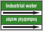 """Стрелка для маркировки трубопровода, легенда """"Mains Water"""", материал B-7529, белый на зеленом, 100 мм × 33 м, высота букв 13 мм, 220 шт."""
