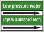 Стрелка для маркировки трубопровода Brady, белый на зеленом, «mineral water», 100x33000 мм, b-7529, 220 шт, 13 мм