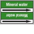 "Стрелка для маркировки трубопровода, легенда ""Plant Water"", материал B-7529, белый на зеленом, 100 мм × 33 м, высота букв 13 мм, 220 шт."