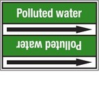 Стрелка для маркировки трубопровода Brady, белый на зеленом, «pure water», 100x33000 мм, b-7529, 220 шт, 13 мм