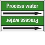 "Стрелка для маркировки трубопровода, легенда ""Purified Water"", материал B-7529, белый на зеленом, 100 мм × 33 м, высота букв 13 мм, 220 шт."