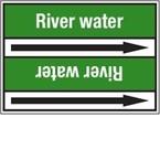 Стрелка для маркировки трубопровода Brady, белый на зеленом, «salt water», 100x33000 мм, b-7529, 220 шт, 13 мм