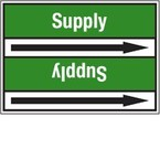 Стрелка для маркировки трубопровода Brady, белый на зеленом, «towns water», 100x33000 мм, b-7529, 220 шт, 13 мм
