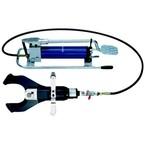 Отсекающая гидравлическая голова Klauke AS120FHP 120кН открытого типа с гидравлическая насосом 700 бар для резки Cu- и Al- кабеля