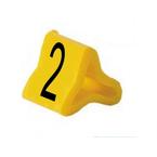 Маркер на провод 0,2-0,75 мм PY 01/3, жёлтый:2 К