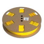 Овальный профиль на провод 0,5 мм² PO-02, жёлтый, 50 м