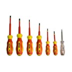 Набор диэлектрических отверток SHTOK Ph 0, Ph 1, Ph 2, Sl 2.5, Sl 4.0, Sl 5.5 + тестер