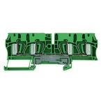 Клеммы PE пружинные 4мм sp2; ZPE/4/4AN