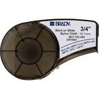 Лента Brady m21-750-499, черная на белом, 19.05x4870 мм, Нейлон