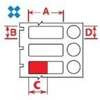 Этикетки Brady BPT-606-461 / 25,4x9,53мм, B-461