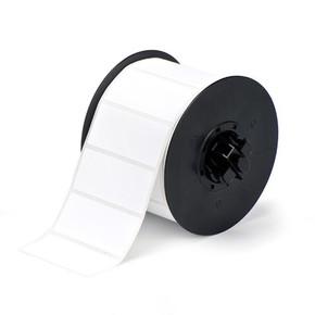 Винил для маркировки внутри/снаружи помещения B30-242-595-BLNKWT, белый без надпечатки, 28,5 * 72,4 мм, в рулоне 300 шт. (BBP31/33/35/37)