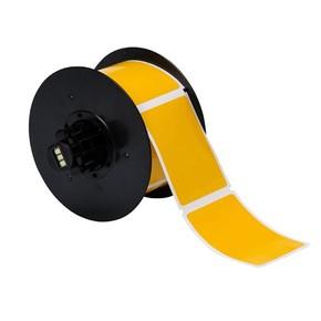 Винил для маркировки внутри/снаружи помещения B30-241-595-BLNKYL, жёлтый без надпечатки, 57,15 * 76,2 мм, в рулоне 300 шт. (BBP31/33/35/37)