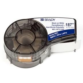 Трубка термоусадочная Brady m21-187-c-342,мм, черная на белом, 3.8, 8.5x2100 мм