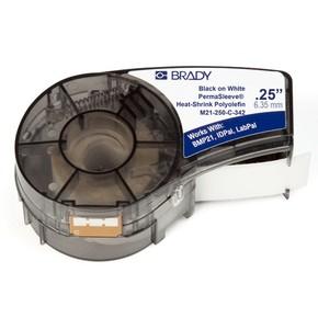Трубка термоусадочная Brady m21-250-c-342,мм, черная на белом, 5.5, 11.15x2100 мм