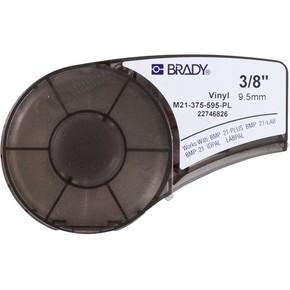 Самоклеящаяся лента Brady M21-375-595-PL, винил, печать белая на фиолетовом, 9,53 мм * 6,4 м
