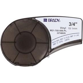 Самоклеящаяся лента Brady M21-750-595-PL, винил, печать белая на фиолетовом, 19,05 мм * 6,4 м