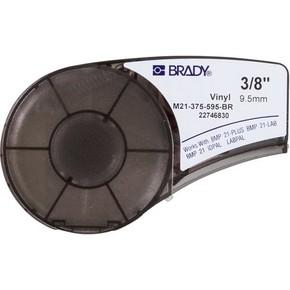 Самоклеящаяся лента Brady M21-375-595-BR, винил, печать белая на коричневом, 9,53 мм * 6,4 м