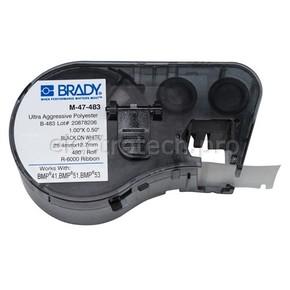 Этикетки Brady M-47-483 / 25,4x12,7мм, B-483