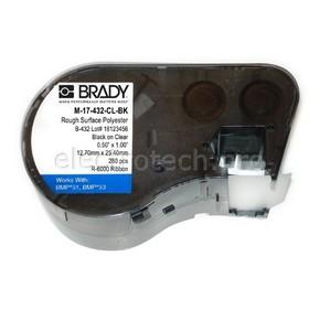 Этикетки Brady M-17-432-CL-BK / 25,4x12,7мм